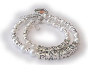Pearl Mother and baby bracelet