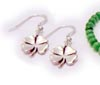 Shamrock Earrings - 4 Leaf Clover Earrings