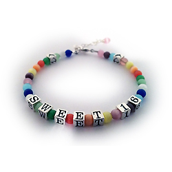 Sweet 16 Bracelet with Lobster Clasp - Colorful Cat's Eye Beads