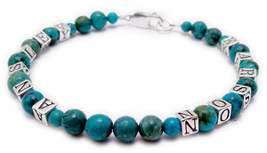 Turquoise Bracelet with Real Turquoise Beads Mother Bracelet