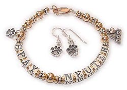Gold Spay & Neuter Bracelet for Animal Lovers