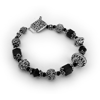 Swarovski Crystal and Bali Bracelet