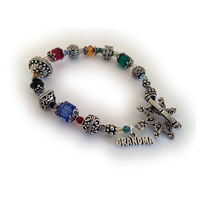 Bright and Colorful Grandma Birthstone Bali Bracelet