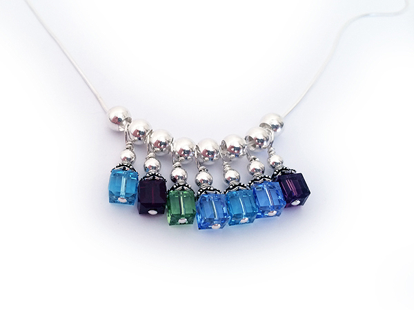 birthstone necklaces personalized charms