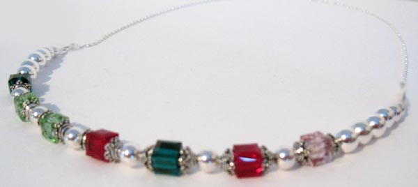 Birthstone Necklace with 7 Birthstone Crystals