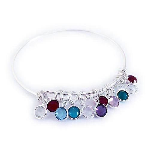 Bangle Channel Charm Bracelet #3 This bracelet comes with the 1 birthstone charm free. The other charms have been added to the cart from this page.