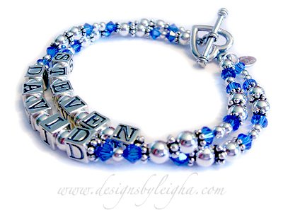STEVEN/Sep - DAVID/Sep.  This Sapphire or September birthstone bracelet is shown with a Heart Toggle Clasp.