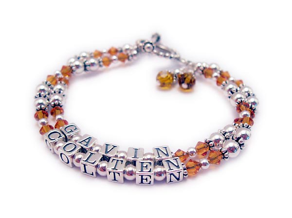 GAVIN/Nov - COLTEN/NovThey added 2 November or Topaz Swarovski Birthstone Crystals.
