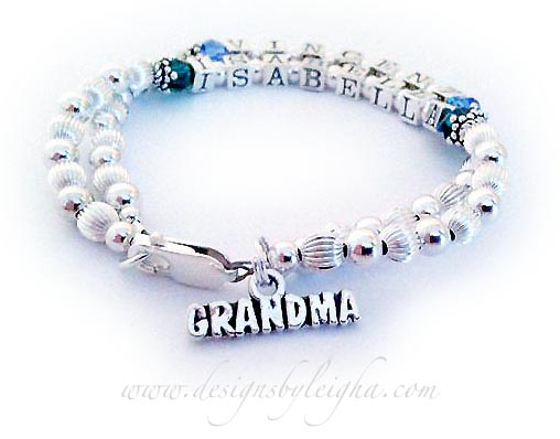 Vincent (September) and Isabella (May) Birthstone Mothers Bracelet with a (free) Lobster Claw Clasp and they added a GRANDMA charm to their cart.