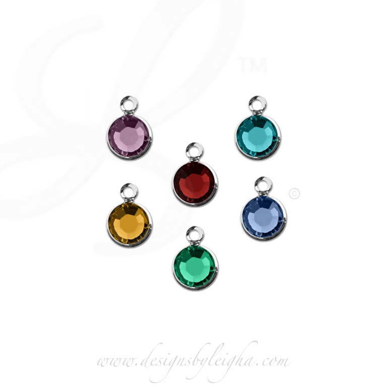 Birthstone Charms to add to an existing bracelet or necklace