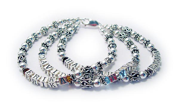 Hannah Emma David Tyler Erika Bracelet 4 strings mommy