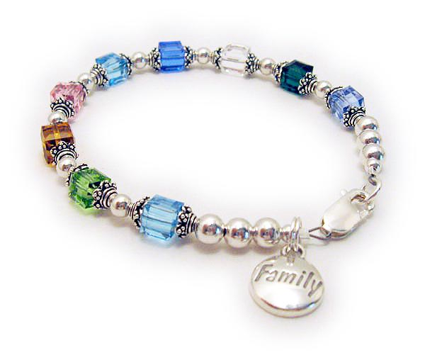 Birthstone Bracelet with FAMILY