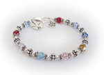 Birthstone Bracelet with 9 Birthstones