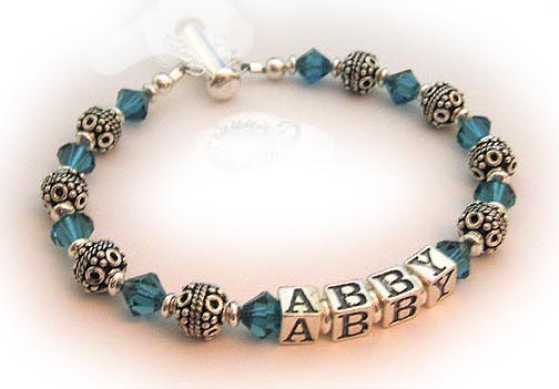 December Crystal Birthstone Bracelet - Decmber Birthstone shown - you choose the color or birth month during the ordering process - ABBY Bracelet