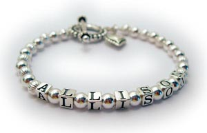 Alllison mothers bracelet with heart charm