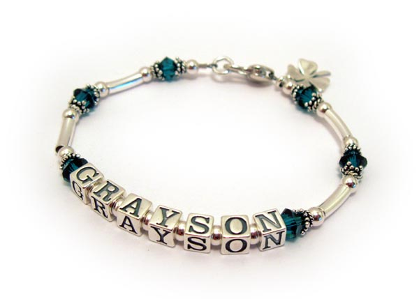 Grayson Mother Bracelet - shamrock charm