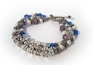 Haley Zachariah & Whitney MOM Bracelet