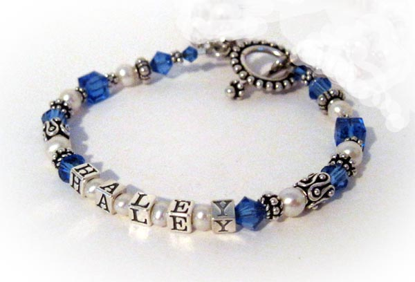Haley September Birthstone Bracelet