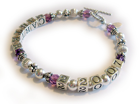 Name and Date Bracelet