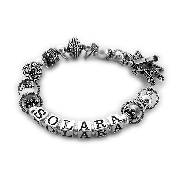 "This bracelet is a 7 1/4"" bracelet shown with SOLARA,"