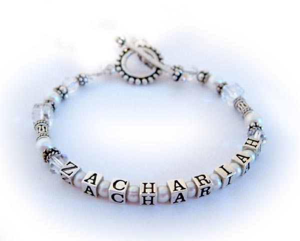 Zachariah April Birthstone Crystal Bracelet for MOM