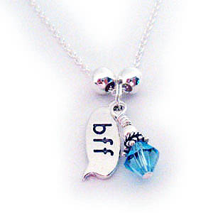 Best Friends Forever Necklace with Birthstone Charm