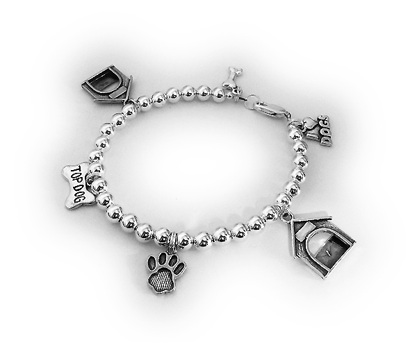 Dog or Cat Lover Charm Bracelet