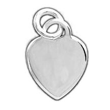 Sterling Silver Flat Heart Engravable Charm
