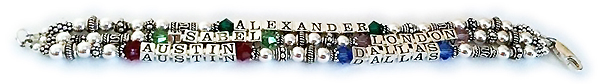 5 name birthstone bracelet
