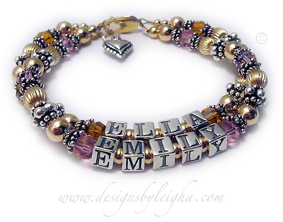 Emily and Ella Mothers Bracelet