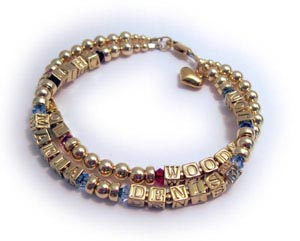 Gold Grandma Birthstone Bracelet instead of a Grandma Ring