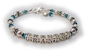 Crystal Birthstone Bracelet for Grandma