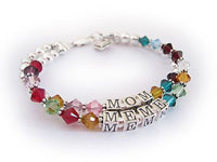 "This I LOVE GRANDMA™ personalized birthstone bracelet is perfect for any grandma. These personalized bracelets for grandmas have Swarovski fully-leaded crystal beads with sterling silver beads, spacers and sterling silver clasp. You can choose any birthstone colors for the crystals. A 7"" bracelet can have up to 10 different birthstone colors. An 8"" bracelet can have up to 12 different birthstone colors. You can also add another string if needed, for additional birthstone crystals."