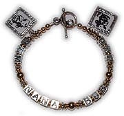 Grandma, Nana, Gamma, Grandmother Bracelets with Picture Frame Charms