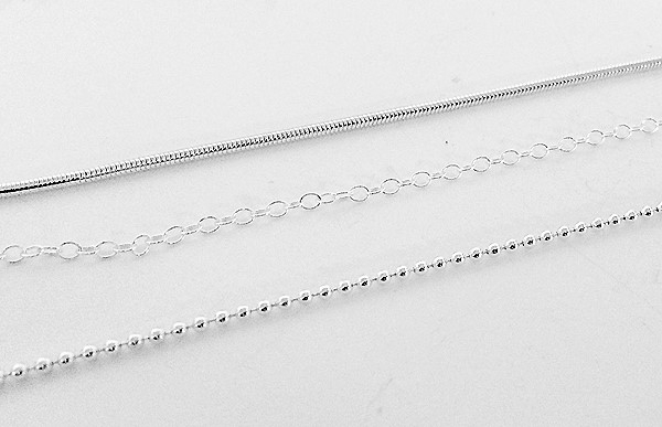sterling silver chain options offered by Designs By Leigha