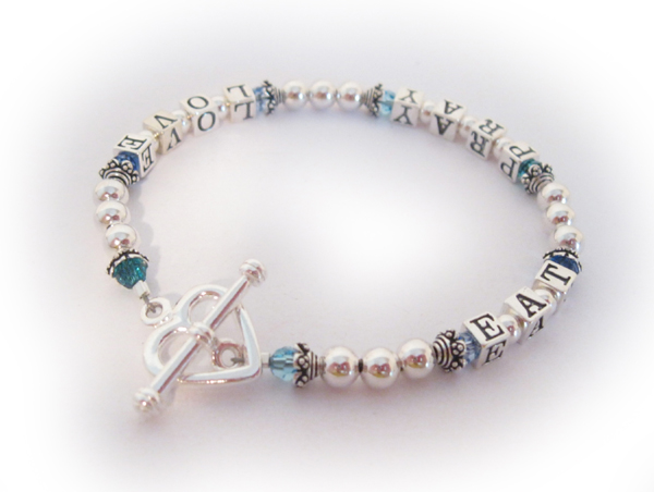 Eat Pray Love Bracelet