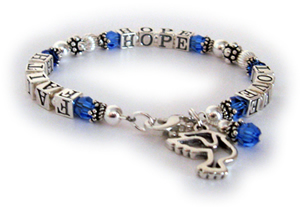 Faith Hope Love Message Bracelet