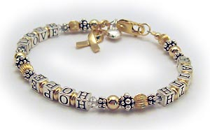 Faith Hope and Love Breast Cancer Bracelet