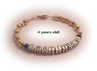 Gratitude Bracelets in Gold and Sterling Silver