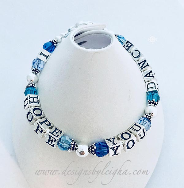 I Hope You Dance Watercolor Bracelet
