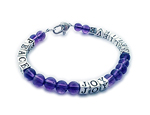 Amethyst Breathe Peace Love Bracelet