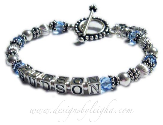 December Birthstone Crystal bracelet for mommys