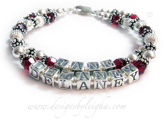 bracelet with 2 kids names