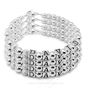4-string name bracelet DBL-SS1-4string