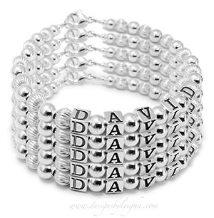 5-string name bracelet DBL-SS1-5string