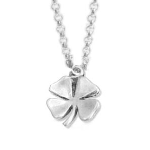 Shamrock Earrings - 4 Leaf Clover Necklaces - Sterling Silver