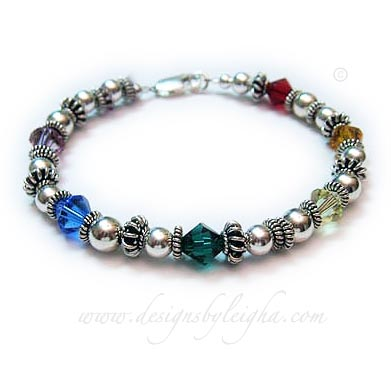 Rainbow Bridge Bracelet with an IN MEMORY bead