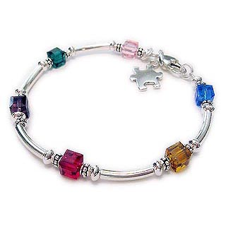 Autism Awareness Bracelet - Autism Spectrum Disorder Jewelry - CBB-R40a