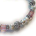Pink and Silver breast cancer bracelet